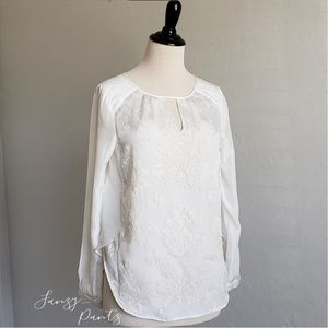 Sundance Tops - Sundance catalog silk embroidered peasant top